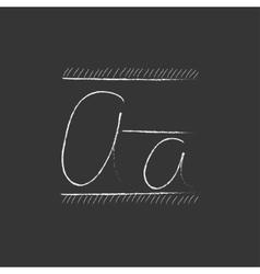 Cursive letter a Drawn in chalk icon vector image vector image