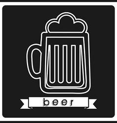 fresh beer vector image