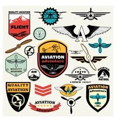 Mega Set of the theme aviation vector image