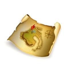 Old treasure map vector