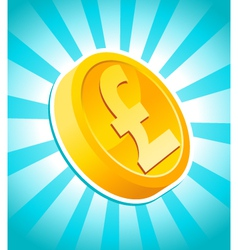 pound gold coin vector image vector image