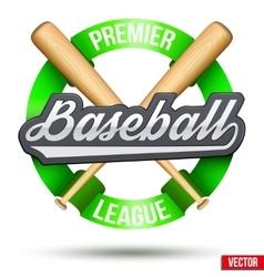Baseball circle symbol vector image