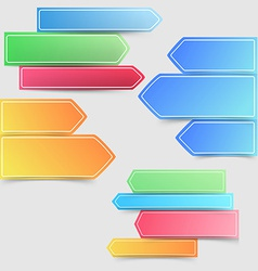 Collection of colorful bright infographics arrows vector image vector image