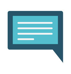 Colorful silhouette image of rectangular dialogue vector