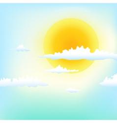 good weather vector image