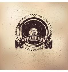 Steampunk emblem dears vector image