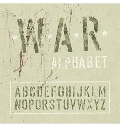 war alphabet vector image