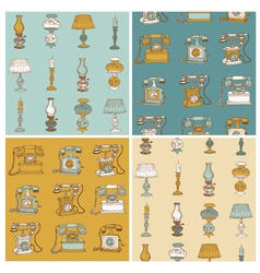 Backgrounds with Vintage Telephone vector image