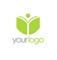 book student school logo vector image