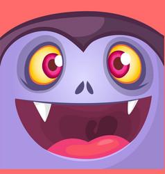 cartoon dracula face vector image