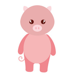 cute and tender pig character vector image