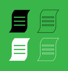 document icon black and white color set vector image vector image