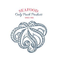 hand drawn octopus icon vector image vector image