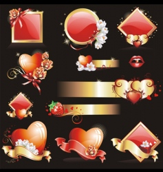 valentines design elements vector image