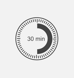 A clock icon indicating a time interval 30 vector