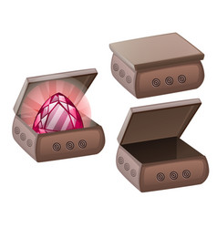 A set clay caskets and red ruisolated on vector