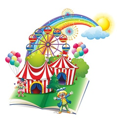 A storybook about the carnival vector