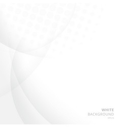 abstract white background with circle and curve vector image