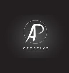 ap brush letter logo design artistic handwritten vector image