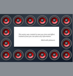 Audio speakers subwoofers wall of sound vector