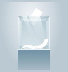 ballot glass box vector image