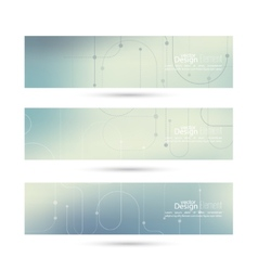 Banner with blurred abstract background vector