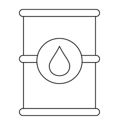 Barrel of oil icon outline style vector image