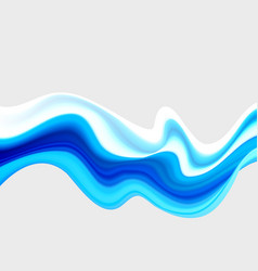 Blue wave acrylic paint wavy paint drips vector