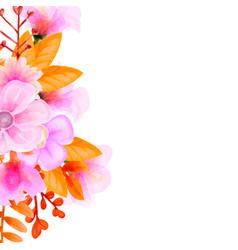 bouquet watercolor flower floral set colorful vector image