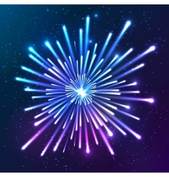Bright neon firework vector