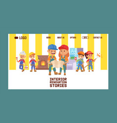 builder web page constructor children vector image