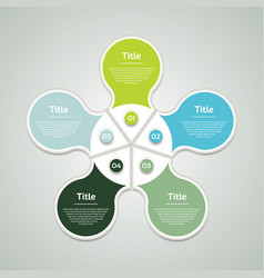 Business concept with five options vector
