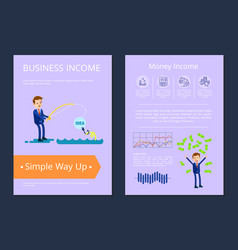 business income simple way up vector image
