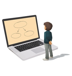 Businessman Anaylising business vector image