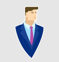 businessman in blue blazer vector image
