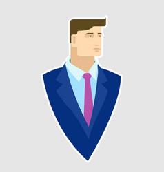 Businessman in blue blazer vector