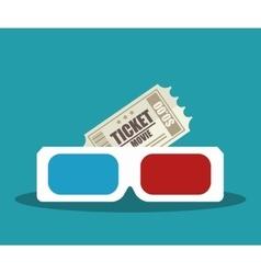 cartoon cinema film festival movie design vector image