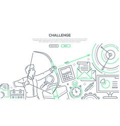challenge - modern line design style vector image