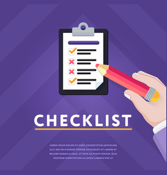 Checklist with unfinished business vector