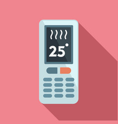 Climate remote control icon flat style vector