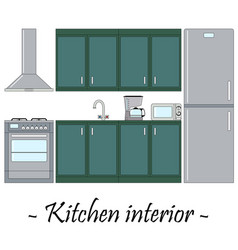 color of a kitchen interior vector image