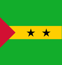 colored flag of sao tome and principe vector image
