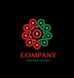 colorful abstract circle logo design vector image