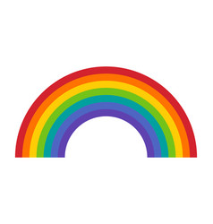 Colorful rainbow or color spectrum vector