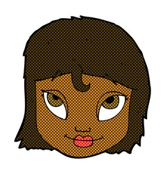 Comic cartoon woman smiling vector