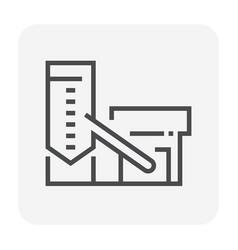 concrete plant icon vector image