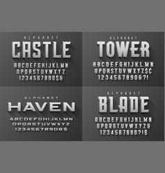 condensed original display set of fonts vector image
