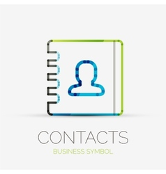Contacts company logo business concept vector