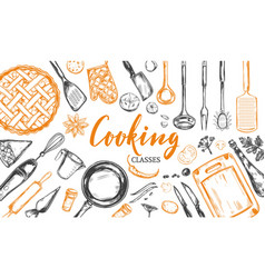 cooking concept frame 2 vector image