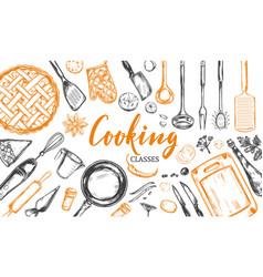 Cooking concept frame 2 vector